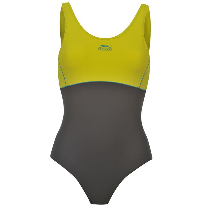 Дамски Бански Цял Slazenger Basic Ladies Swim Suit