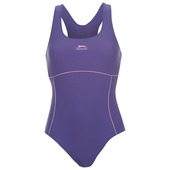 Дамски Бански Slazenger Racer Back Swimsuit Ladies