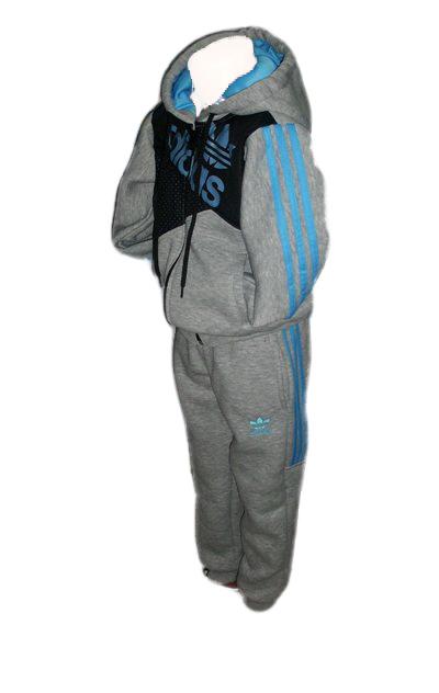 cb49915a0b8 Детски анцунг Adidas ватиран /сив/, Онлайн магазин за спортни екипи ...