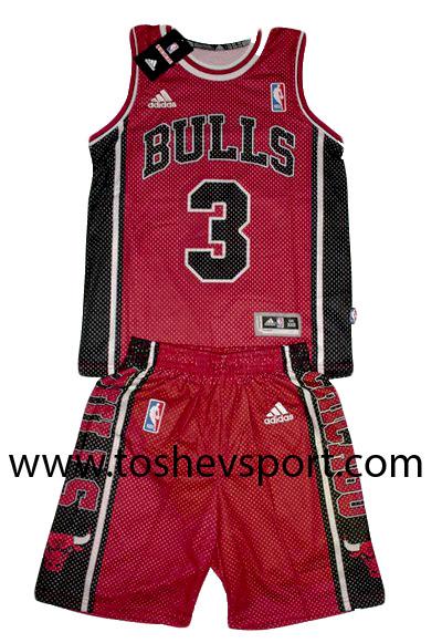 f76bfd3f750 Детски Баскетболен Екип NBA Чикаго Булс WADE 3, Онлайн магазин за ...