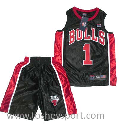 80a77b4e1e8 Черен Детски Баскетболен Екип NBA Чикаго Булс ROSE 1, Онлайн магазин ...