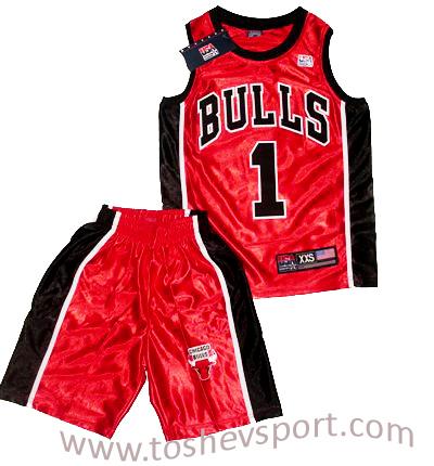 2ca87eb4cb0 Детски Баскетболен Екип NBA Чикаго Булс ROSE 1, Онлайн магазин за ...